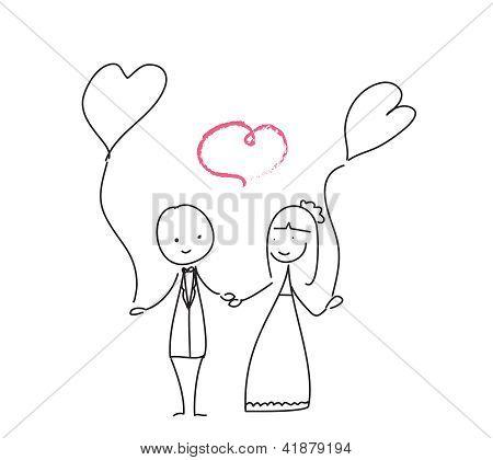 Wedding Love Doodle
