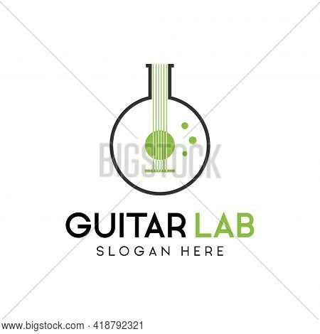 Music Labs Logo. Guitar Labs Logo Design Template Inspiration