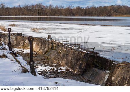 Kaliningrad Region, Kolosovka (willgaiten, Vikau), Russia, March 20, 2021. Old Waterworks . The City