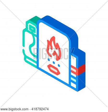 Domestic Use Biogas Isometric Icon Vector. Domestic Use Biogas Sign. Isolated Symbol Illustration