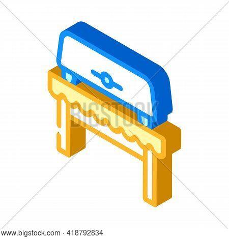 Bread Toaster Equipment Isometric Icon Vector. Bread Toaster Equipment Sign. Isolated Symbol Illustr