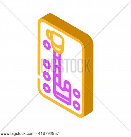 Automatic Transmission Car Isometric Icon Vector. Automatic Transmission Car Sign. Isolated Symbol I