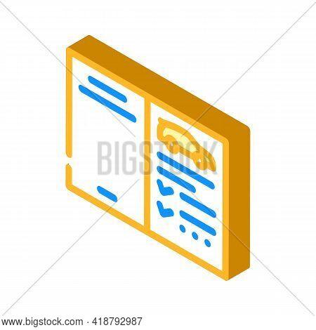 Auto Service Passport Car Isometric Icon Vector. Auto Service Passport Car Sign. Isolated Symbol Ill