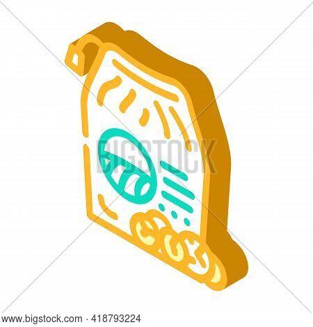 Organic Laundry Soap Detergent Isometric Icon Vector. Organic Laundry Soap Detergent Sign. Isolated