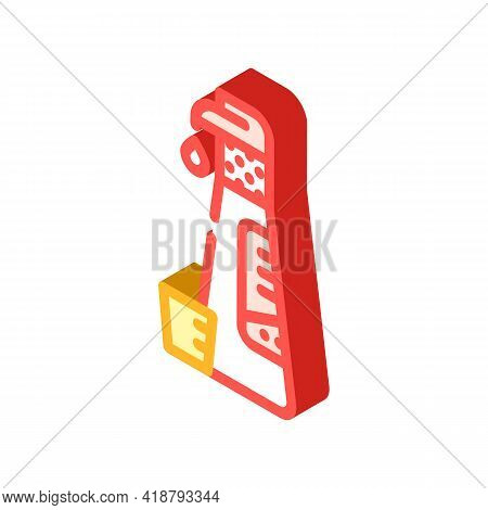 Concentrated Detergent With Dispenser Isometric Icon Vector. Concentrated Detergent With Dispenser S