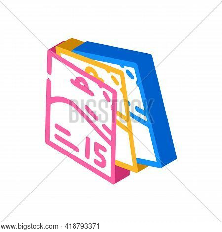 Bags Detergent For Travel Isometric Icon Vector. Bags Detergent For Travel Sign. Isolated Symbol Ill