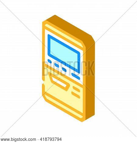 Terminal For Buying Ticket Isometric Icon Vector. Terminal For Buying Ticket Sign. Isolated Symbol I