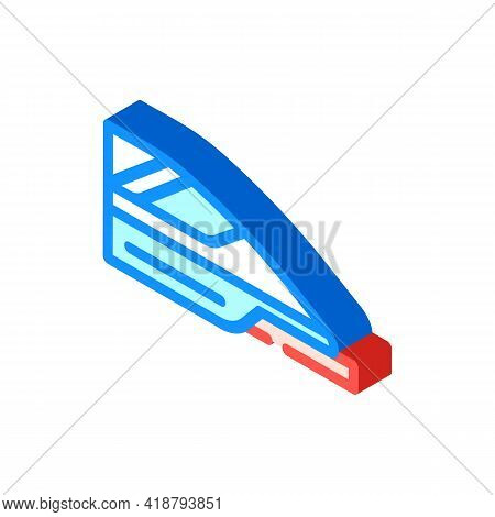 High Speed Train Isometric Icon Vector. High Speed Train Sign. Isolated Symbol Illustration