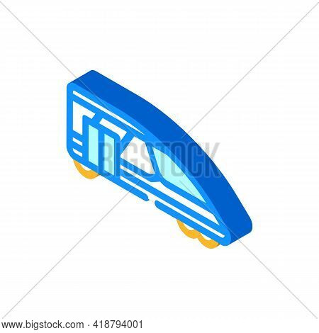 Train Transport Isometric Icon Vector. Train Transport Sign. Isolated Symbol Illustration