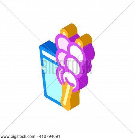 Dango Snack Isometric Icon Vector. Dango Snack Sign. Isolated Symbol Illustration