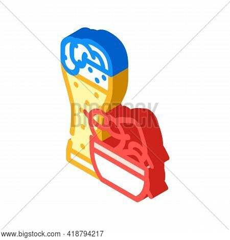 Pretzels Snack And Beer Isometric Icon Vector. Pretzels Snack And Beer Sign. Isolated Symbol Illustr