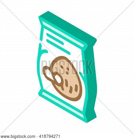 Coconut Chips Snack Isometric Icon Vector. Coconut Chips Snack Sign. Isolated Symbol Illustration