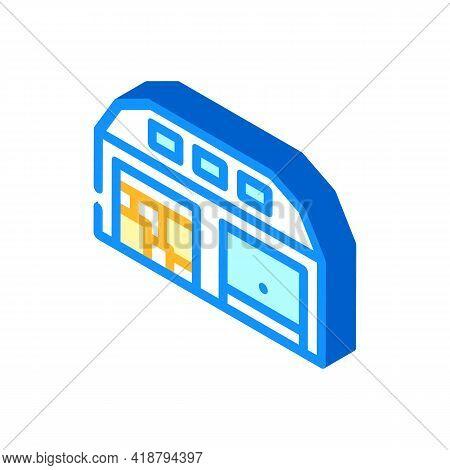 Warehouse Wholesale Isometric Icon Vector. Warehouse Wholesale Sign. Isolated Symbol Illustration