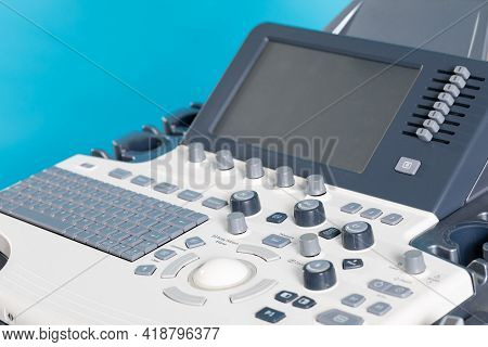 An Ultrasound Machine For Imaging And Examination Of The Soft Tissues Of The Human Body.