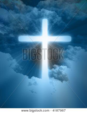 Bright Glowing Cross
