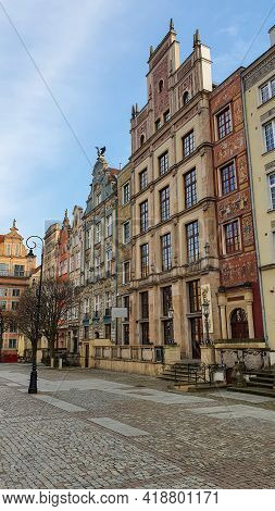 Colorful Houses, Tenements In Old Town Gdansk, Poland