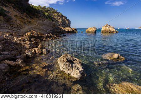 The Beautiful Xarraca Beach In Ibiza In Spain