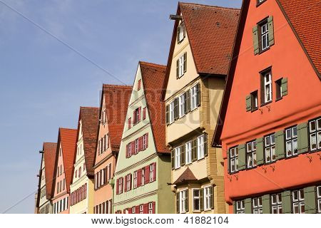 Facades of medieval houses