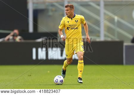 Milano, Italy. 25th April 2021 . Darko Lazovic Of Hellas Verona Fc  During The Serie A Match Between