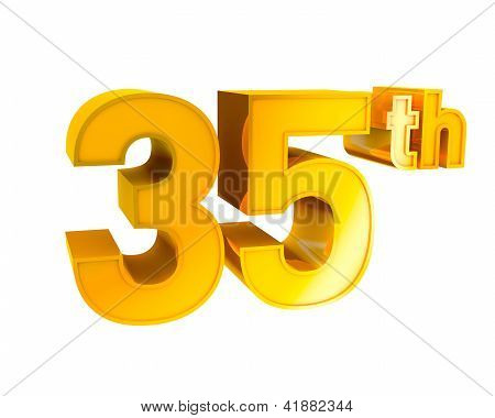 Gold Alphabet Anniversary 35