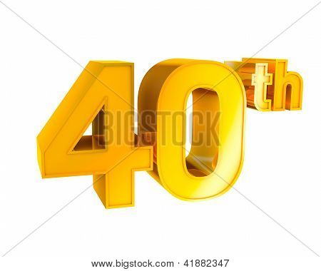 Gold Alphabet Anniversary. 40