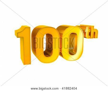 Gold Alphabet Anniversary. 100