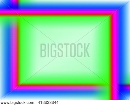 Multi-colors Futuristic Horizontal Abstract Frame, Illustration Background