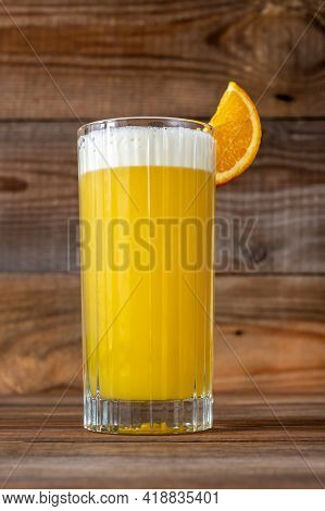 Glass Of Yellow Bird Cocktail