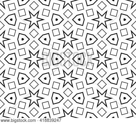 Cute Abstract Doodle Hexagon Tile Seamless Pattern