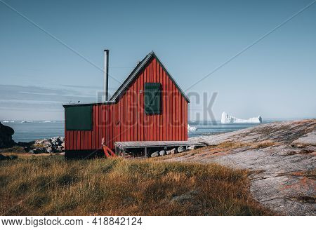 The Colorful House Of Rodebay Ilulissat, Greenland. This Settlement Is Located On A Small Peninsula