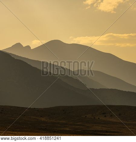 Afternoon Lights Up The Sky Over Wheeler Peak In Great Basin National Park