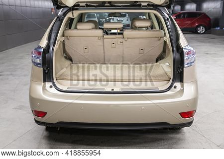 Novosibirsk, Russia - April 25 2021: Lexus Rx, Rear View Of A Car With An Open Trunk. Exterior Of A