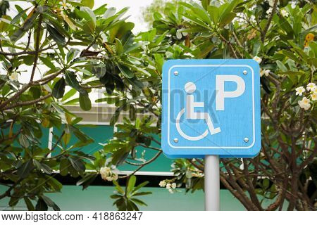The Car Parking Sign For Disabled Person