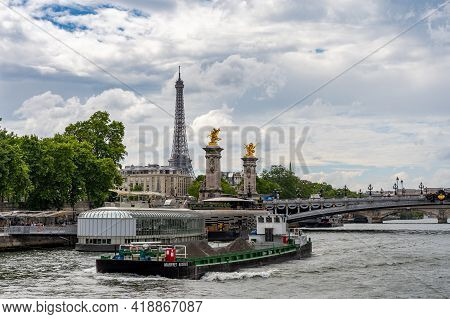 19 June 2019 - Paris, France: Sightseeing Boat Trip Along The Seine