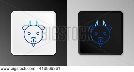 Line Aries Zodiac Sign Icon Isolated On Grey Background. Astrological Horoscope Collection. Colorful