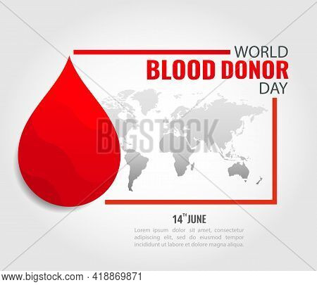 Vector Illustration Of World Blood Donor Day