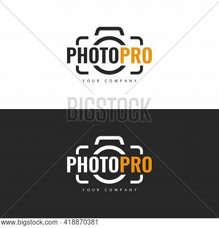 Vector Illustration. Logo Template. Photo Studio Logo Design.