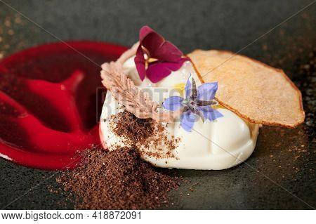 Panna Cotta With Jelly Dessert