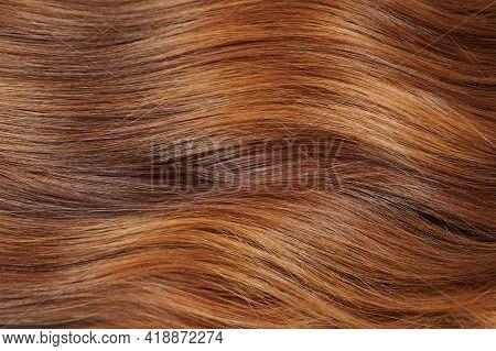 Orange Color Woman Haircut