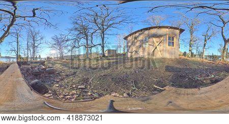 360 Vr - Off Grid Shed Closed For The Season, Rural Landscape