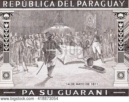 Declaration Of Independence From Paraguayan Money - Guarani