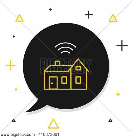 Line Smart Home With Wireless Icon Isolated On White Background. Remote Control. Internet Of Things