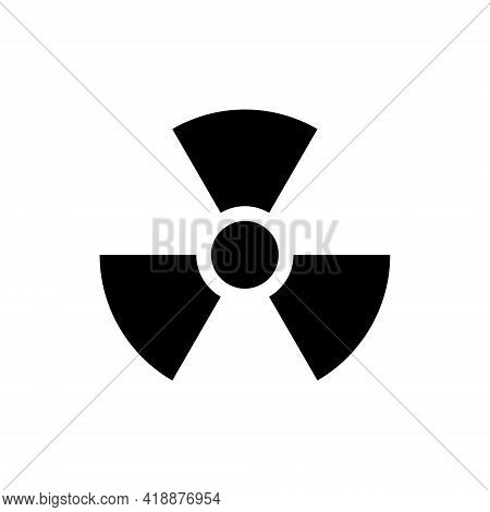 Radiation Symbol, Radiation Icon On White Background. Vector Illustration