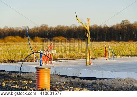 Foundation Technology, Insulated Swedish Plate For Privet House. Preparation Of Communications In A