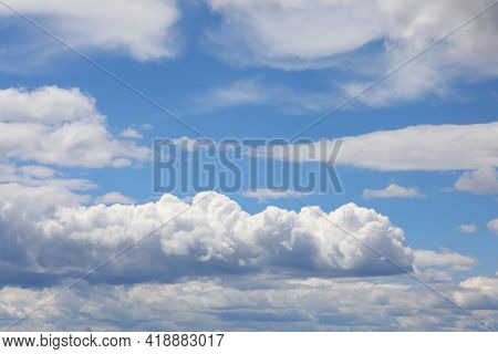 Amazing 3d Background With Clouds And Clear Blue Sky On A Clear Day