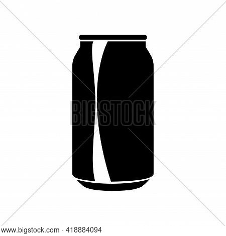 Cola Aluminum Bottle Can Icon In Flat Style. Vector Illustration Isolated On White Background