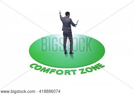 Businessman leaving his comfort zone