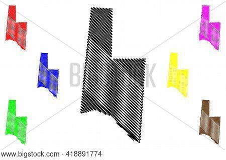 Brown County, Ohio State (u.s. County, United States Of America, Usa, U.s., Us) Map Vector Illustrat
