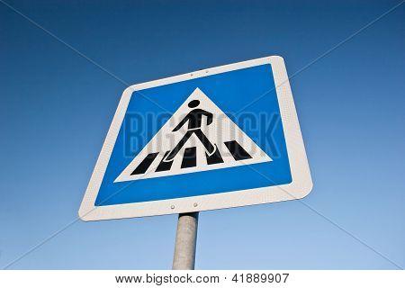 German cross walk sign