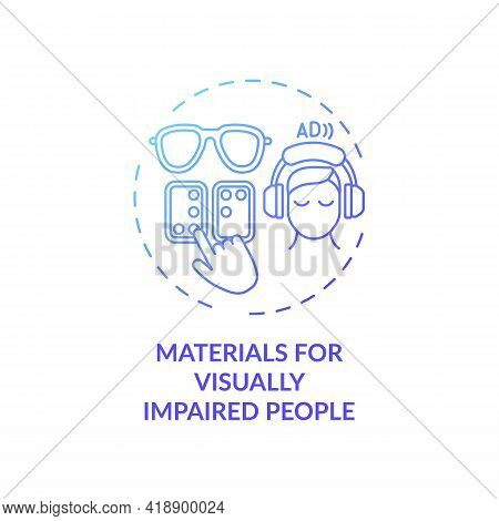 Materials For Visually Impaired People Concept Icon. Exception To Copyright Idea Thin Line Illustrat